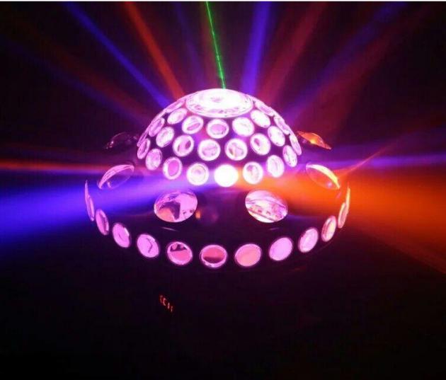 LED/雷射/光束 三合一效果旋轉球 1
